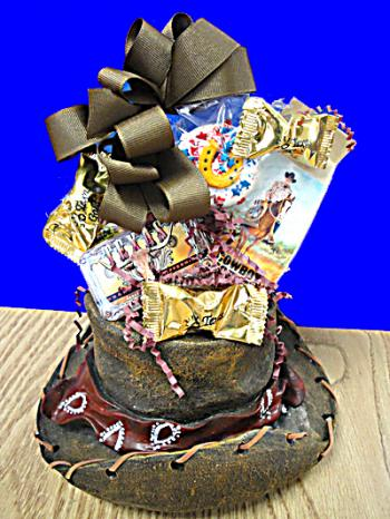 Cowboy Hat Texas Gift Basket