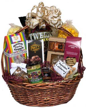 abundance of treats gift basket