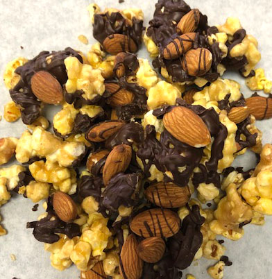 Chocolate Almond Popcorn