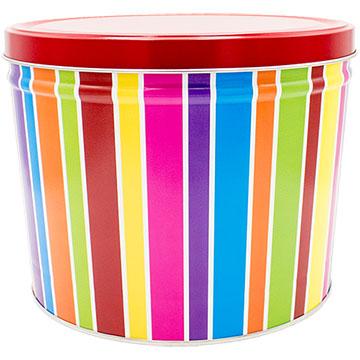 Everyday Stripes Popcorn Tin