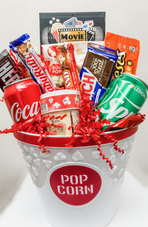 Popcorn Treats Gift Basket