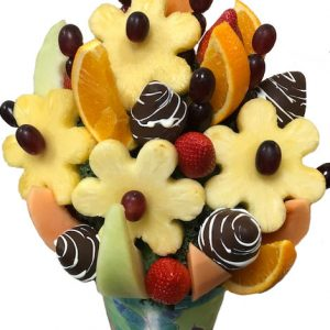 flower power fruit arrangement