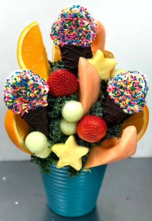 sprinkle fun fruit arrangement