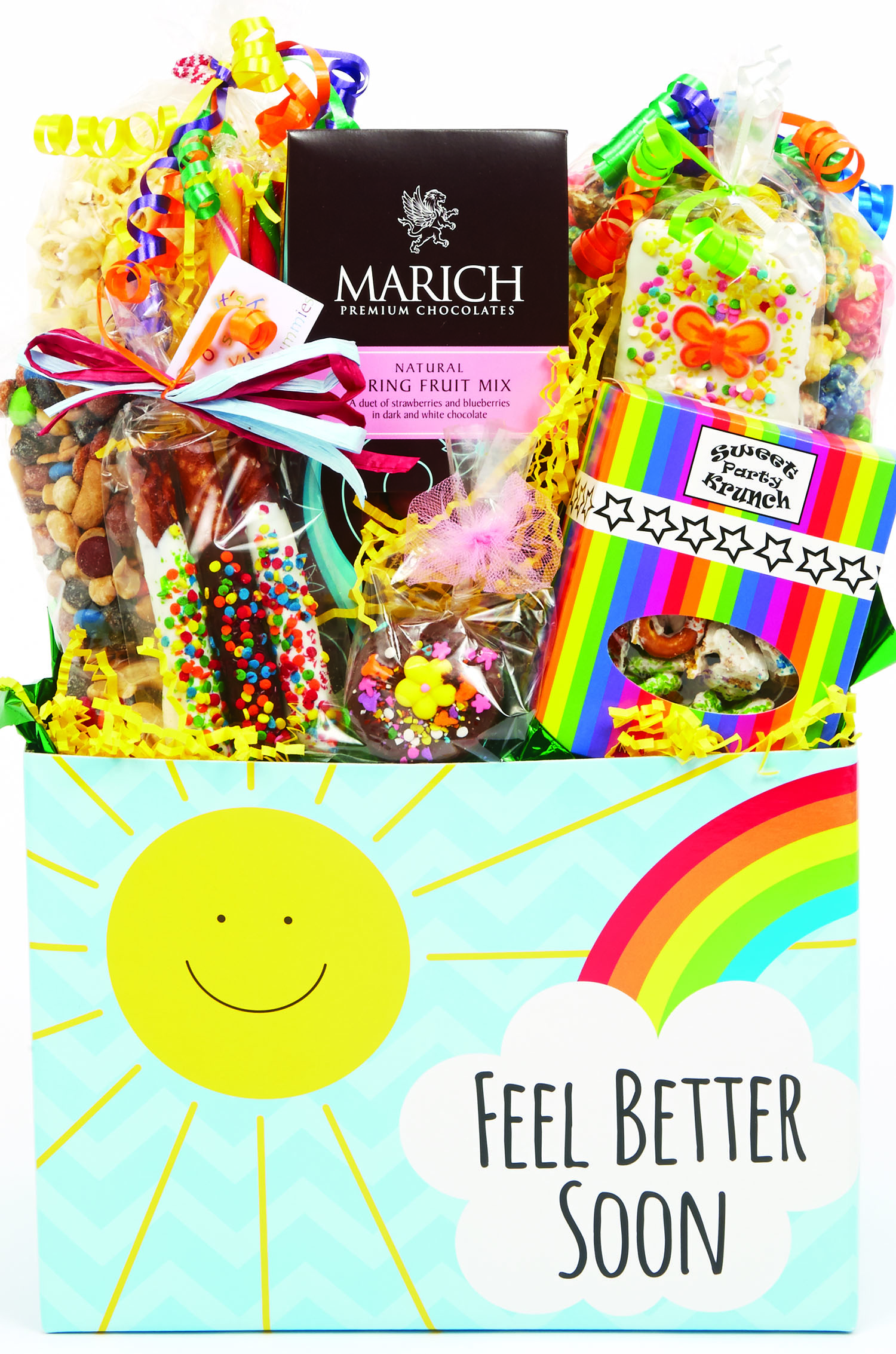 Sunny Wishes Get Well Basket