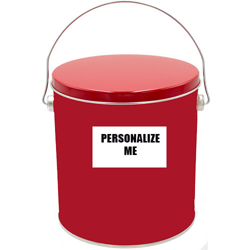 1 Gallon Solid Red Tin