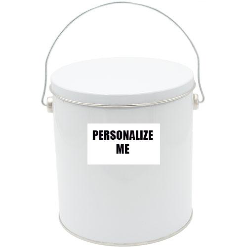 1 Gallon Solid White Tin