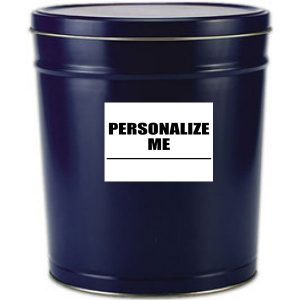 6 gallon blue popcorn tin