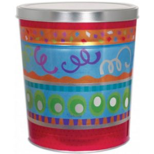 6 gallon fiesta popcorn tin