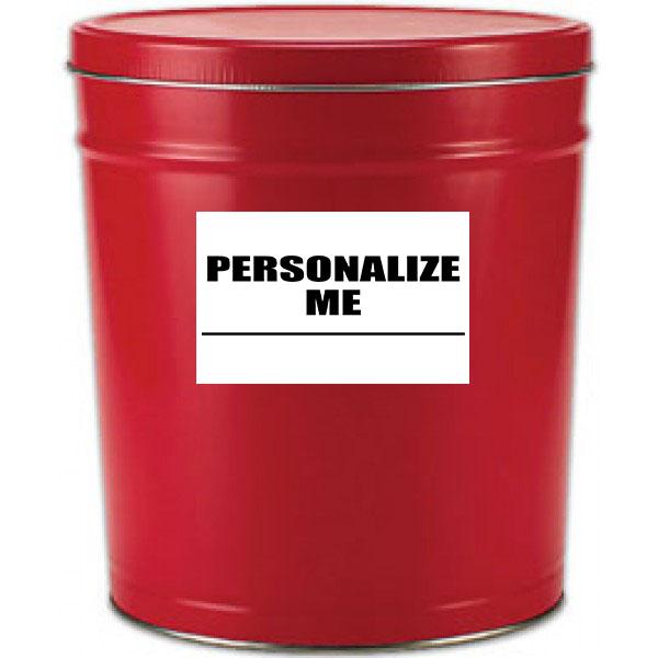 6 Gallon Red Popcorn Tin