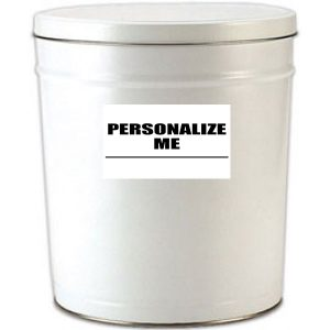 6 gallon white popcorn tin