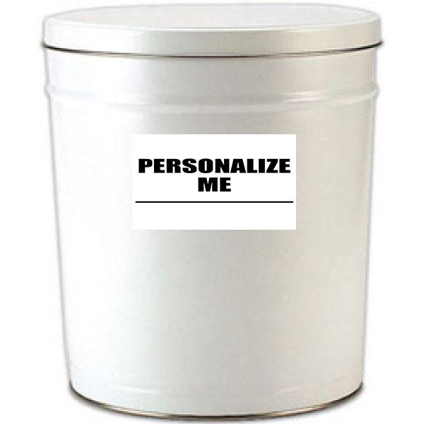 6 Gallon White Popcorn Tin
