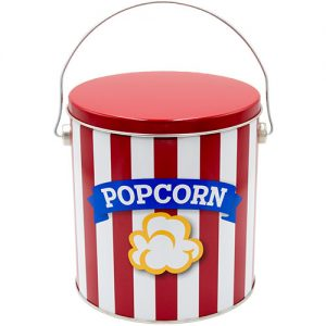 1 gallon blue ribbon popcorn tin