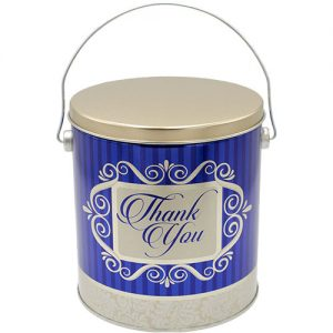 one gallon thank you popcorn tin