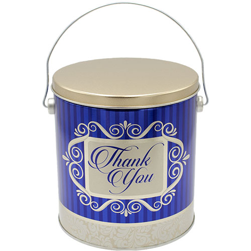 1 Gallon Thank You Popcorn Tin