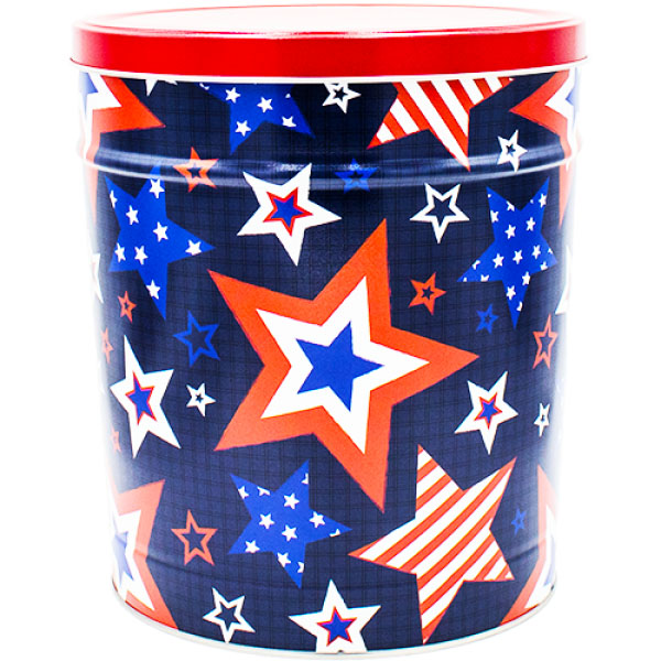 Stars and Stripes 3 Gallon Popcorn Tin