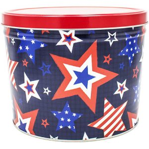 stars and stripes popcorn tin