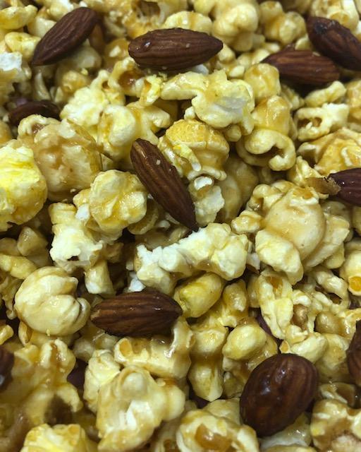 Caramel Popcorn with Almonds