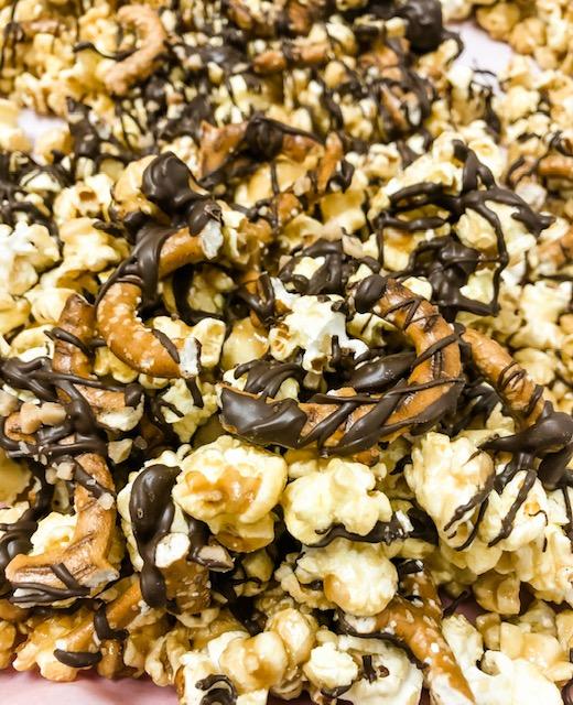 Toffee Pretzel Caramel Popcorn Crunch