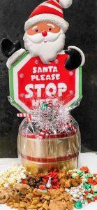 lit santa stop here gift