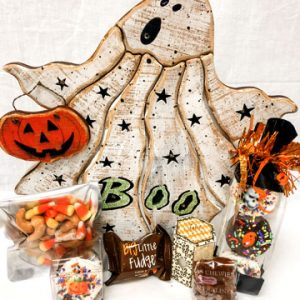 lighted ghost hallowen gift box