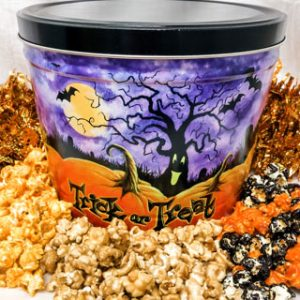 trick or treat popcorn tin
