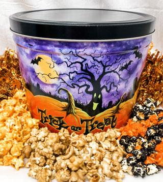 Trick or Treat Goodie Popcorn Tin