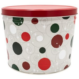 jolly dots popcorn tin 2 gallon