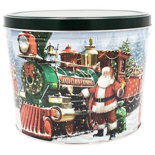 Santa Express Popcorn Tin – 2 gallon