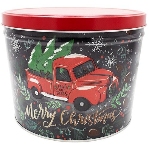 Tree Farm Truck Popcorn Tin – 2 gallon