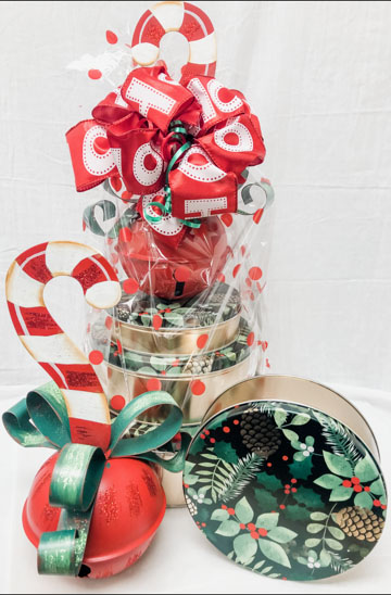 Candy Cane Jingle Bell Stack