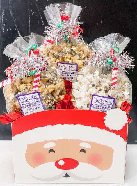 Cheerful Santa Gift Box
