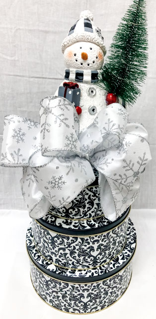 Classy Lit Snowman Stack