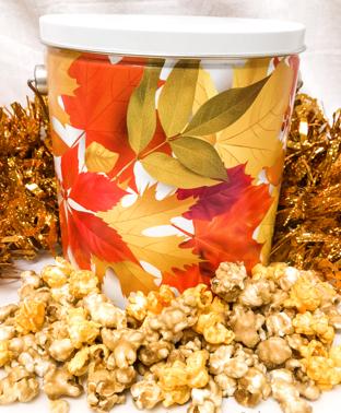 Colors of Fall Popcorn Tin