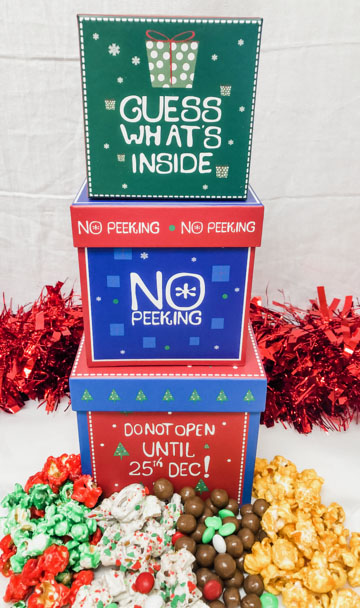 Santa Surprise Gift Stack