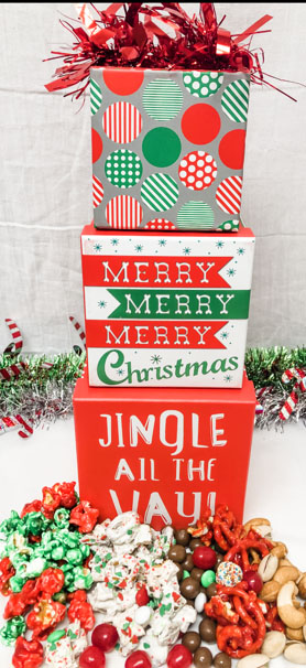 Jingle All the Way Gift Box Stack