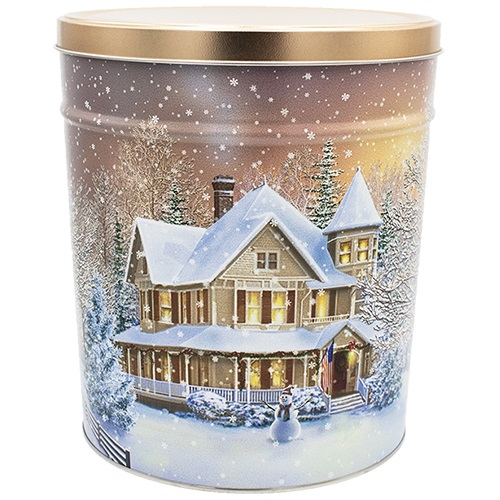Home for the Holidays Popcorn Tin – 3.5 Gallon