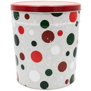 jolly dots popcorn tin 3 gallon