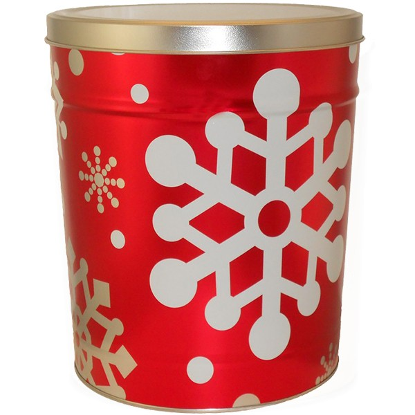 Let it Snow Popcorn Tin – 3.5 Gallon