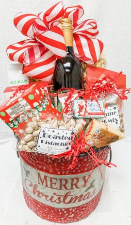 Merry Christmas Gift Bucket