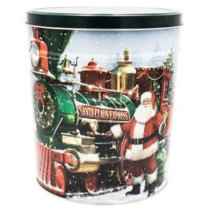 santa express popcorn tin 3 gallon