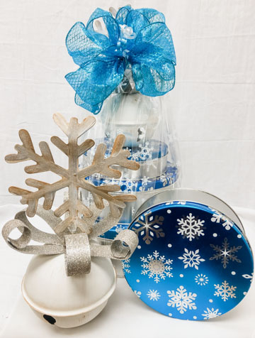 Snowflake Jingle Bell with Snowflake Tins