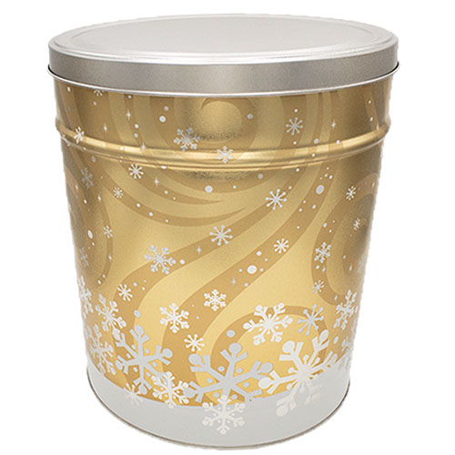 Swirling Snow Popcorn Tin – 6 gallon