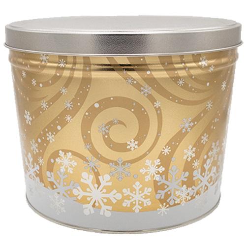 Swirling Snow Popcorn Tin – 2 gallon