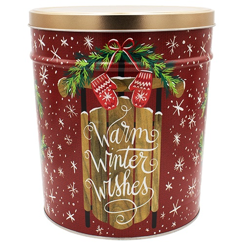 Warm Winter Wishes Popcorn Tin – 6 gallon