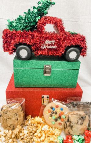 Tree Farm Truck w/ Glitzy Boxes